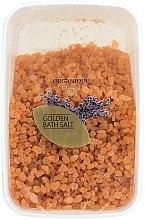"""Духи, Парфюмерия, косметика Соль для ванны, большие гранулы """"Золотая"""" - Organique Bath Salt Golden"""