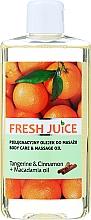 """Духи, Парфюмерия, косметика Масло для ухода и массажа """"Мандарин и Корица + Масло Макадамии"""" - Fresh Juice Energy Tangerine&Cinnamon+Macadamia Oil"""