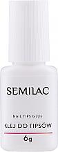 Духи, Парфюмерия, косметика Клей для типсов с кисточкой - Semilac Nail Tip Glue