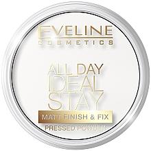 Духи, Парфюмерия, косметика Укрепляющая пудра - Eveline Cosmetics All Day Ideal Stay Matt Finish & Fix White-60