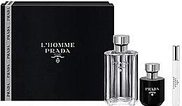 Духи, Парфюмерия, косметика Prada L'Homme Prada - Набор (edt/100ml + sh/gel/100ml + edt/mini/10ml)