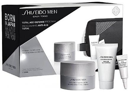 Набор - Shiseido Men Total Age-Defense Program Set (cr/50ml + foam/30ml + eye/cr/3ml + bag) — фото N1