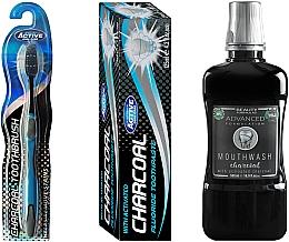 Духи, Парфюмерия, косметика Набор - Beauty Formulas Charcoal (mouthwash/500ml + toothbrush/1pcs + toothpaste/125g)