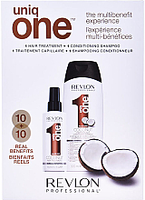 Духи, Парфюмерия, косметика Набор - Revlon Professional Uniq One The Multibenefit Experience (sh/cond/300ml + treatment/150ml)