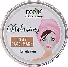 Духи, Парфюмерия, косметика Балансирующая маска для лица с глиной для жирной кожи - Eco U Balancing Clay Face Mask For Oily Skin
