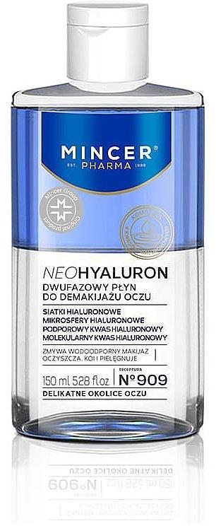 Двухфазное средство для снятия макияжа с глаз - Mincer Pharma Neo Hyaluron 909 — фото N1