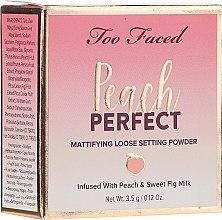 Духи, Парфюмерия, косметика Рассыпчатая пудра - Too Faced Peach Perfect Setting Powder Travel-Size
