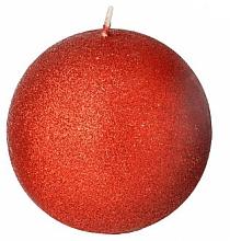 Духи, Парфюмерия, косметика Декоративная свеча, шар, красный, 8 см - Artman Glamour