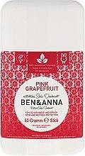 """Духи, Парфюмерия, косметика Дезодорант на основе соды """"Розовый грейпфрут"""" (пластик) - Ben & Anna Natural Soda Deodorant Pink Grapefruit"""