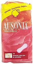 Духи, Парфюмерия, косметика Прокладки ежедневные гигиенические Anatomica Sanitary Towels, 14 шт - Ausonia