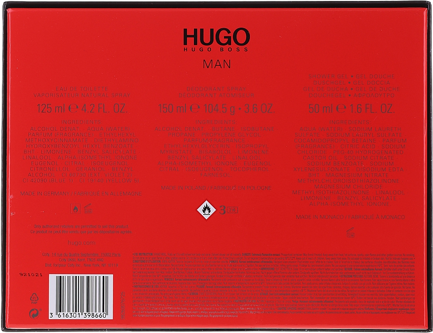 Hugo Boss Hugo Man - Набор (edt/125ml+ deo/150ml + sh/gel/50ml) — фото N2