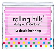Духи, Парфюмерия, косметика Набор резинок для волос - Rolling Hills Classic Hair Rings Pink