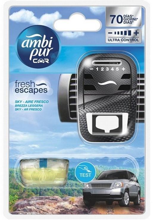 """Набор для ароматизации автомобиля """"Небо"""" - Ambi Pur (freshener/1szt + refill/7ml) — фото N1"""