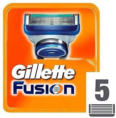 Сменные кассеты для бритья, 5 шт. - Gillette Fusion — фото N2