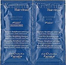 Духи, Парфюмерия, косметика Набор пробников для реконструкции поврежденных волос - Fanola Keraterm (shmp/15ml + mask/15ml)