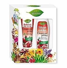 Духи, Парфюмерия, косметика Набор - Bione Cosmetics Pomegranate Body Care Gift Set (b/milk/500ml + balm/hand/205ml)
