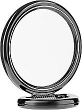 Духи, Парфюмерия, косметика Зеркало двустороннее круглое, на подставке, черное, 15 см - Donegal Mirror