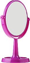 Духи, Парфюмерия, косметика Зеркало на подставке 85734, круглое, 15.5 см, фиолетовое - Top Choice Colours Mirror