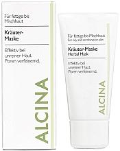 Духи, Парфюмерия, косметика Маска для жирной кожи с растительными экстрактами - Alcina Herbal Mask
