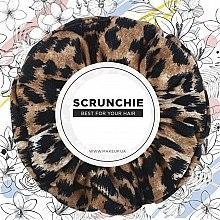 """Духи, Парфюмерия, косметика Резинка для волос трикотаж, леопард рыжий """"Knit Fashion Classic"""" - MakeUp Hair Accessories"""