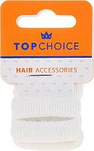 Духи, Парфюмерия, косметика Резинки для волос, белые, 4 шт, 22609 - Top Choice