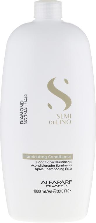 Кондиционер для нормальных волос, придающий блеск - Alfaparf Semi Di Lino Diamond Illuminating Conditioner  — фото N1