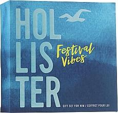 Духи, Парфюмерия, косметика Hollister Festival Vibes For Him - Набор (edt/50ml + h/b/wash/100ml)