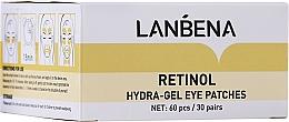 Духи, Парфюмерия, косметика Омолаживающие гидрогелевые патчи для глаз с ретинолом и коллагеном - Lanbena Retinol Collagen Hydra-Gel Eye Patch