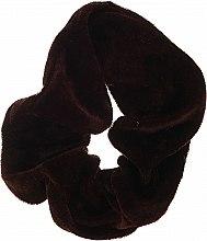 """Духи, Парфюмерия, косметика Резинка для волос """"Velvet"""", темно-коричневая, 22777 - Top Choice"""