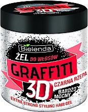 Духи, Парфюмерия, косметика Гель для волос с черной репой - Bielenda GRAFFITI 3D Extra Strong Stayling Hair Gel