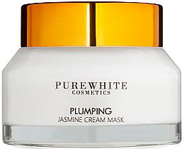Духи, Парфюмерия, косметика Крем-маска с жасмином для упругости лица - Pure White Cosmetics Plumping Jasmine Cream Mask