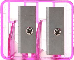 Духи, Парфюмерия, косметика Точилка двойная для карандашей, 2199, светло-розовая - Top Choice