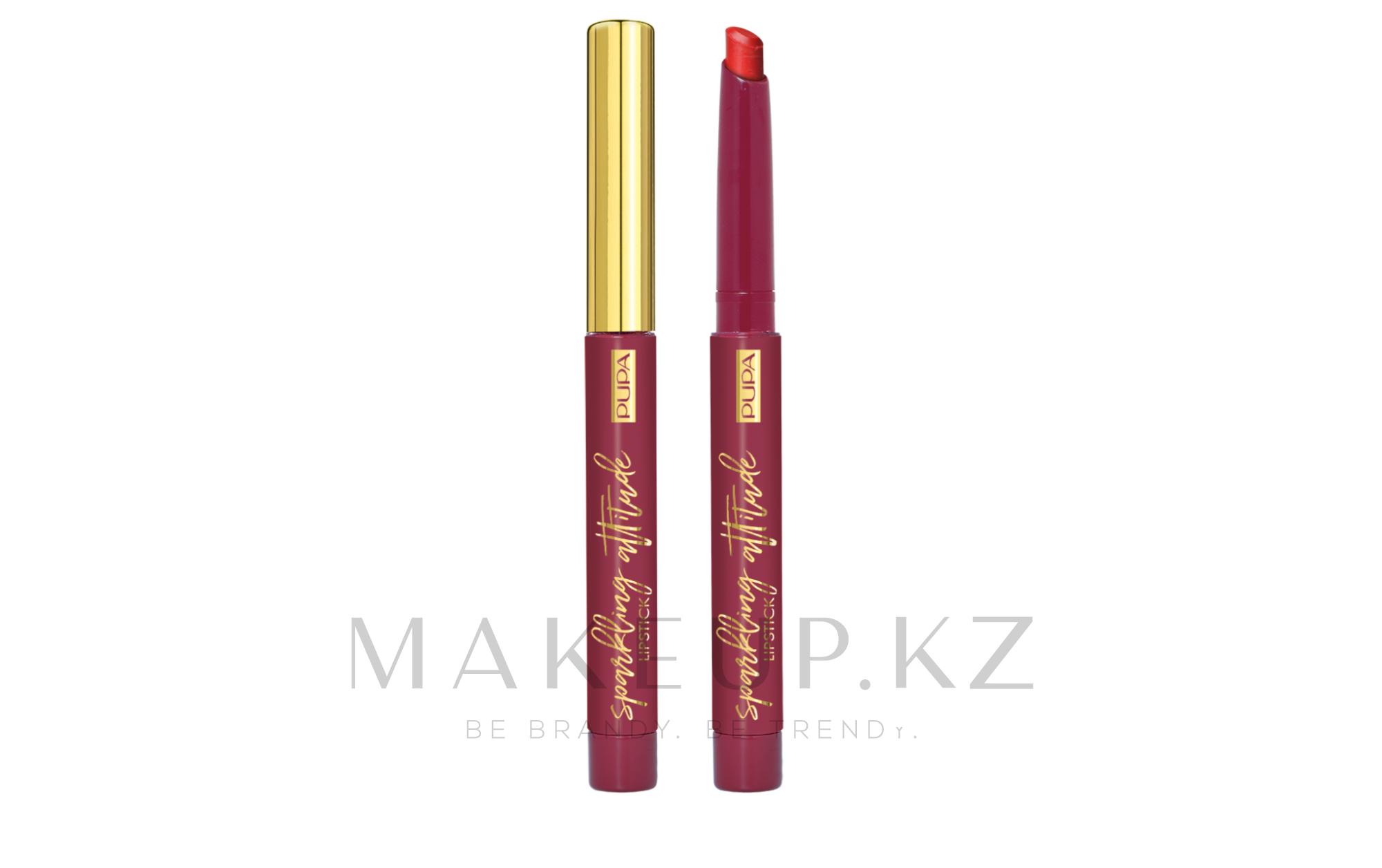 Матовая помада для губ - Pupa Sparkling Attitude Lipstick Matt Effect — фото 001 - Precious Cherry
