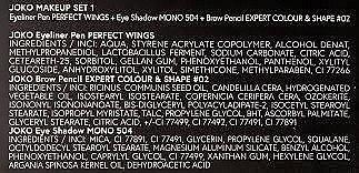 Набор - Joko Makeup Set 1 (eyeliner/5g + eye/shadow/5g + brow/pencil/5g) — фото N5