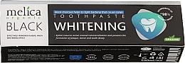 Духи, Парфюмерия, косметика Зубная паста отбеливающая с черным древесным углем - Melica Organic Toothpaste Whitening Black