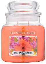 "Духи, Парфюмерия, косметика Ароматическая свеча ""Солнце и ромашки"" (банка) - Country Candle Sunshine & Daisies"