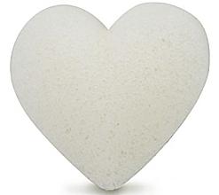Духи, Парфюмерия, косметика Спонж для умывания, сердце - Bebevisa Pure Konjac Sponge