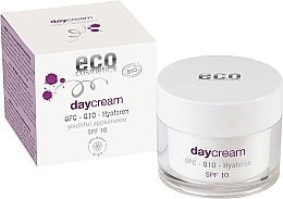 Духи, Парфюмерия, косметика Дневной крем для лица с гиалуроном - Eco Cosmetics Day Cream With OPC Q10 & Hyaluron SPF10