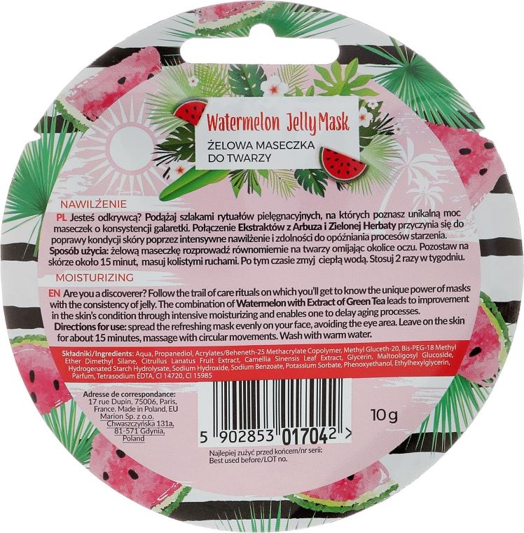"Маска для лица ""Арбуз"" - Marion Tropical Island Watermelon Jelly Mask — фото N2"
