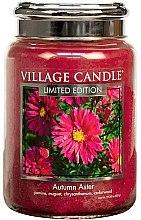 Духи, Парфюмерия, косметика Ароматическая свеча в банке - Village Candle Autumn Aster Glass Jar