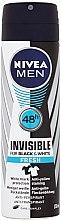Духи, Парфюмерия, косметика Дезодорант спрей антиперспирант - Nivea For Men Invisible For Black & White Fresh Deodorant Spray