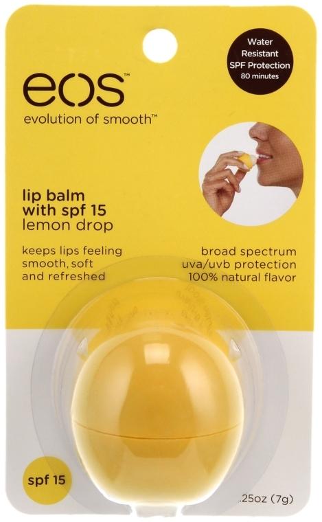 "Бальзам для губ ""Лимон"" - EOS Smooth Sphere Lip Balm Lemon Drop — фото N2"