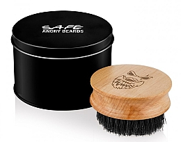 Духи, Парфюмерия, косметика Деревянная щетка для бороды, круглая - Angry Beards Safe Brush