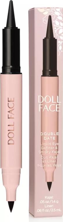 Подводка-каял для глаз - Doll Face Double Date Liquid Eye Definer & Smokey Kajal — фото N1