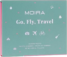 Духи, Парфюмерия, косметика Палетка теней для век - Moira Happy Go, Fly, Travel Shadow Palette