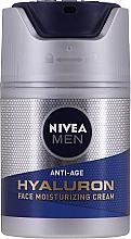 Духи, Парфюмерия, косметика Антивозрастной увлажняющий крем для лица с гиалуроновой кислотой - Nivea Men Anti-Age Hyaluron Face Moisturizing Cream SPF 15