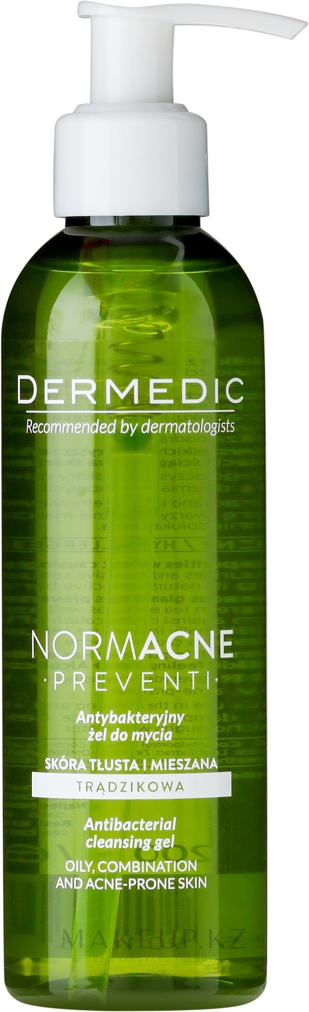 Гель для лица - Dermedic Normacne Antibacterial Cleansing Facial Gel — фото 200 ml