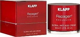 Духи, Парфюмерия, косметика Комплексный анти-эйдж крем - Klapp Repagen Exclusive Global Anti-Age Cream