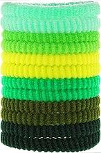 Духи, Парфюмерия, косметика Резинки для волос зеленые mix, 12 шт - Top Choice