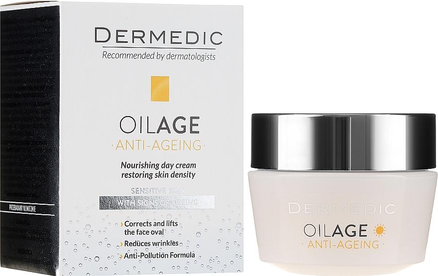 Крем дневной с фито Эстрогенами замедляющий старение кожи 40-60+ - Dermedic Oilage Tri Oleum  — фото N1